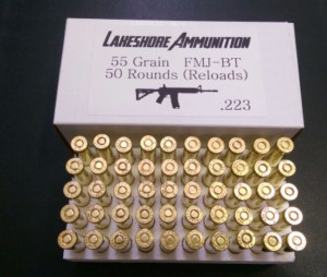 50 rounds 223 fmj-bt 55 grain reloads.
